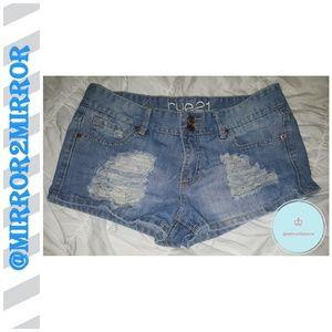 🍍Rue 21 Women's Distressed Jean shorts